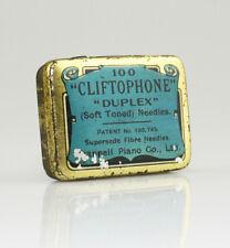 CLIFTOPHONE 'Duplex' Gramophone Needle Tin (with Needles) - Fairly Scarce (ZZ82)