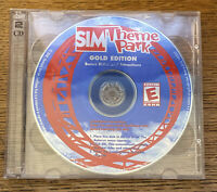 SIM Theme Park Gold Edition PC - JEWEL CASE AND 2 DISCS ONLY - Jewel Case Broken