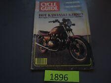 Cycle Guide Magazine February 1981- Kawasaki KZ1000, Honda CR450R, Yamaha RD350
