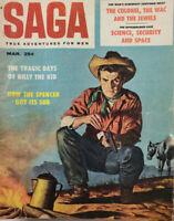 Saga Nov 1958 Mens Magazine Billy The Kid - Colonel Wac Jewels - Cowboy Camp