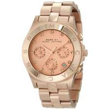 Womens Marc Jacobs MBM3102 Rose Gold Blade Chronograph Watch RRP £299