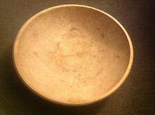 Old Wood Bowl From Los Angeles California Dated 1865 Vintage Antique