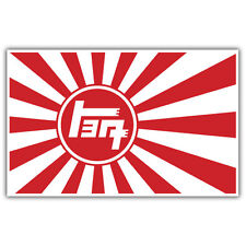 TOYOTA TEQ STICKER JAPANESE RISING SUN FLAG  100mmX 65mm  JDM JAP RICE BURNER