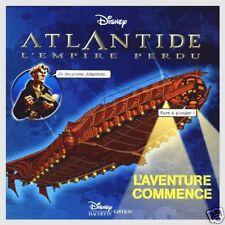 Livre Atlantide l'empire perdu  L'Aventure commence Disney /AA7