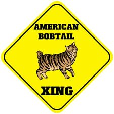 Aluminum Crossing Sign American Bobtail Cat Xing Cross Diamond Street Signal