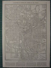 1926 MAP ~ ATLANTA GEORGIA CITY PLAN RAILWAY LINES STATIONS STREETS