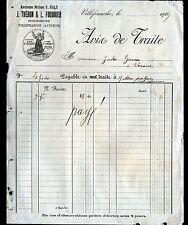 "VILLEFRANCHE-de-ROUERGUE (12) MERCERIE ""Victor BALS / THERON & FOURNIER"" en 1909"