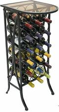 Sorbus Wine Rack Stand Glass Table Top With Metal Display Hold 18 Wine Bottles