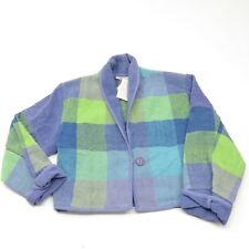ANU by Natural NWT 100% Cotton Artsy Woven Jacket Cardigan ART TO WEAR Sz L