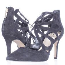 Vince Camuto Ballana Lace Up Cutout Heels, Black, 7 M US - Display
