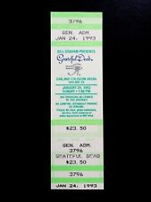 Grateful Dead Ticket Eye Of Horus Aiko Iko Oakland Coliseum 1/24/1993 California