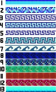 Swimming Pool Border Liners. 40 METERS LONG Decorative Underwater Decals/Stripes