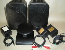 RECOTON Wireless Transmitter & Speakers CLV-A900T & CLV-A900R w Power Supplies
