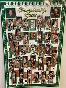 Boston Celtics Championship Years Laminated Poster 24x36 Sports Museum 1989