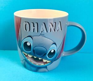 Disney Stitch Ohana Lilo And Stitch New Tagged Mug 400ml