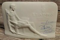 LLadro Collector's Society Signed Plaque - Don Quixote - signed in Blue