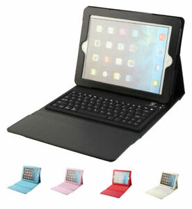 Folio Leather Case with Bluetooth Keyboard for Apple iPad 2/3/4 Mini 1/2 Air Pro