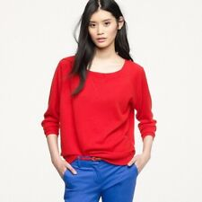 J. Crew Collection • $286 • 'Isabel' 100% Cashmere Red Sweatshirt Sweater, SMALL