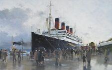 "RMS Aquitania Cunard Liner Liverpool Marine Painting Art Print - 17"" Print"