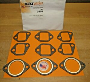 1957 TO 1967 CADILLAC 9 PCS. NEW COMPLETE EXHAUST MANIFOLD GASKET SET BEST 3574