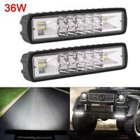 2pcs 36W LED Work Light Bar Flood Spot Lights Driving Lamp Offroad Car Truck