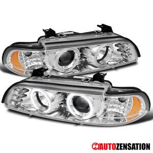 For 1996-2003 BMW E39 525i 528i 540i Halo Projector Headlights+LED Left+Right