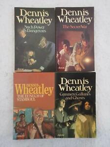 Lot of 4 Dennis Wheatley Arrow Vintage Mass Market Paperbacks GUNNMEN, GALLANTS