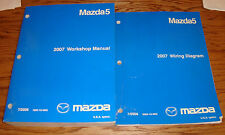 Original 2007 Mazda Mazda5 5 Shop Service Manual + Wiring Diagram Set 07