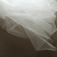 Super Fine Soft Ivory / Pale Cream Illusion Tulle Fabric 150cm Wide Dainty Mesh