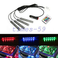 4pcs RGB LED Streifen Auto Motorrad Leuchte Lichterkette Atmosphär 12 V DC