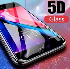 5D Tempered Glass Full Screen Protector Cover for iPhone all   6s, 7, plus X