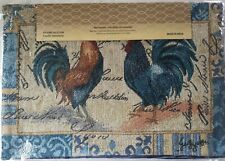 """ROSTERS Tapestry  Table PROTECTOR Placemats 13""""x19""""   set of 4 Reversible"""