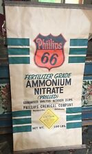 INCREDIBLE Antique NOS Phillips 66 Advertising Sack 1950s Sign Oil Gas Vintage