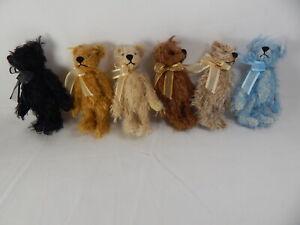 "World of Miniature Bears By Theresa Yang #1087 LOT Sale  3.25"" Mohair Bear"