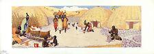 JJ MIDDERIGH Vintage & Rare 1935 Pre-Apartheid Historical Chromolitho KAFFIRS