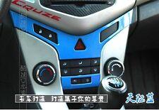 "183- CZR Cruze Chevrolet BLUE Center Console ""Y"" + ""AC"" button trim (Set of 2)"