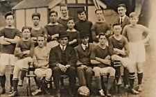 Vintage Soccer Team Postcard RPPC GEC Welfare Team 1920-21 Real Picture A-1