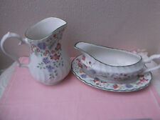 Churchill's Gravy Boat and stand with matching jug - England