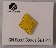 Girl Scout Cookie Activity Sale Girl Cookies Pin Yellow 2000 New on Card