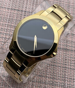 B. NEW Movado Masino 18K Gold Plated Stainless Steel Model # 0607034 Men's Watch