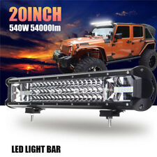 "20"" 540W 1x CREE LED Light Bar Spot Flood Offroad Work Driving bright Lamp Truck"