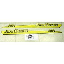 John Deere 4110 hood trim decal set for 4110 compact tractor LVU12297 LVU12298