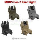 Magpul MBUS Rear Sight Gen 2 Flip Up BUIS MAG248 Black / FDE / ODG / Gray