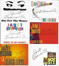 Janet Evanovich 11 hand signed bookplates One for the Money th Ten Big Ones ++