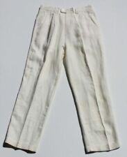 Pantaloni da uomo bianche in lino