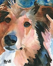 Shetland Sheepdog Dog 11x14 signed art Print Rjk Sheltie Painting
