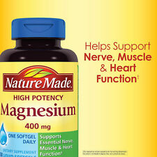 Nature Made High Potency Magnesium 400 mg 150 Liquid Softgels new sealed
