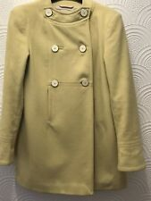 REISS 1960's style yellow wool coat Size Small