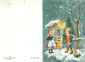 Holidays art drawing Stationery kids well light winter Postcard