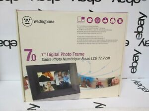 """Westinghouse Electric DPF-0702 7"""" Digital Screen with Black Frame New Unused"""